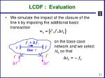 lcdf evaluation
