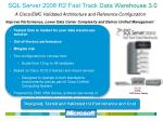 sql server 2008 r2 fast track data warehouse 3 0