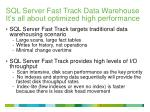 sql server fast track data warehouse it s all about optimized high performance