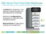 sql server fast track data warehouse