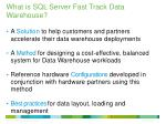 what is sql server fast track data warehouse