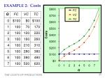 example 2 costs