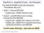 explicit vs implicit costs an example