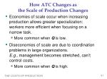 how atc changes as the scale of production changes1