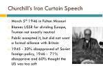 churchill s iron curtain speech