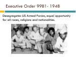 executive order 9981 1948