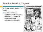 loyalty security program