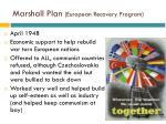 marshall plan european recovery program