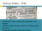 railway strikes 1946