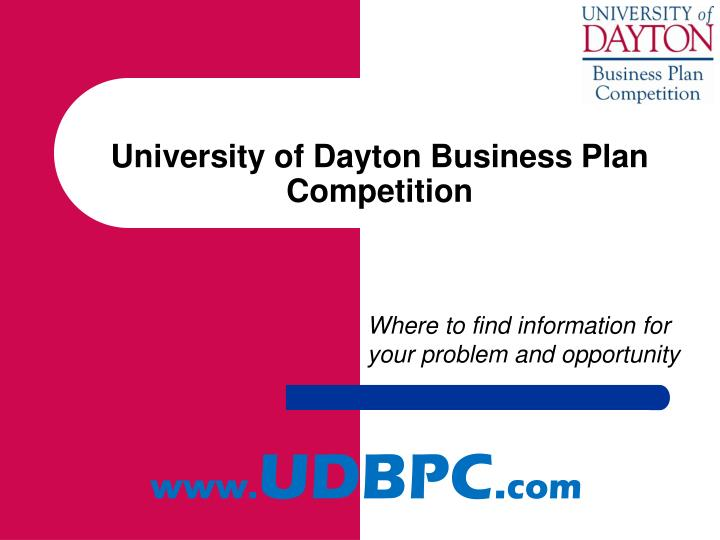 university of dayton business plan competition n.