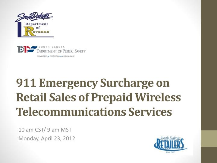 911 emergency surcharge on retail sales of prepaid wireless telecommunications services n.
