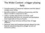 the wider context a bigger playing field