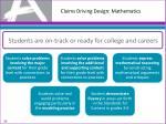 claims driving design mathematics