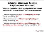 educator licensure testing requirements updates2