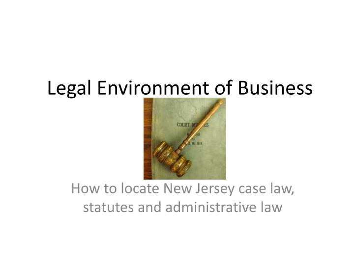 legal environment of business n.