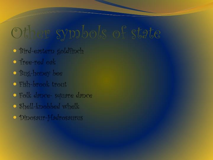 Other symbols of state