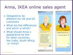 anna ikea online sales agent