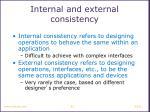 internal and external consistency