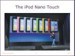 the ipod nano touch