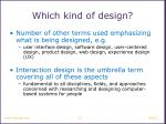 which kind of design