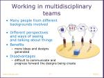 working in multidisciplinary teams