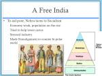 a free india