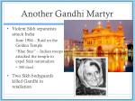 another gandhi martyr