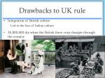 drawbacks to uk rule