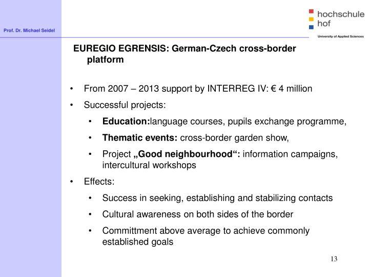 EUREGIO EGRENSIS: German-Czech
