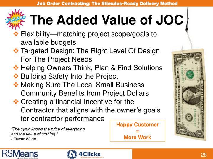 The Added Value of JOC