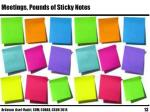 meetings pounds of sticky notes