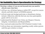 net availability how to operationalize the strategy