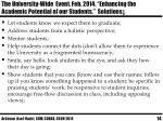 the university wide event feb 2014 enhancing the academic potential of our students solutions