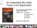 an unidentified but valid theory of art appreciation