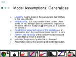 model assumptions generalities