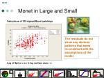 monet in large and small