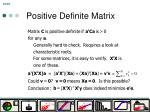 positive definite matrix