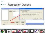 regression options