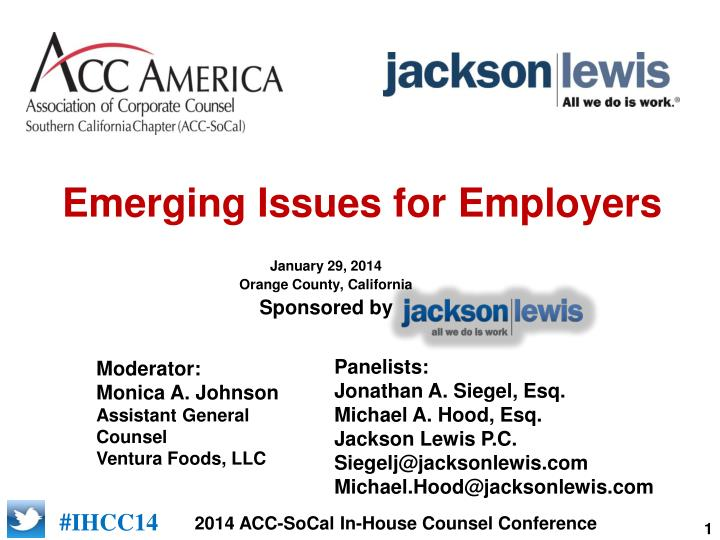 emerging issues for employers n.