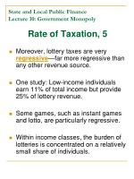 state and local public finance lecture 10 government monopoly18