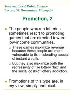 state and local public finance lecture 10 government monopoly21