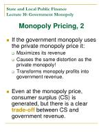 state and local public finance lecture 10 government monopoly3