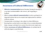 awareness of cultural differences