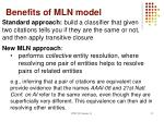 benefits of mln model