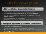 how the services are sold licensing channels