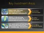 key investment areas