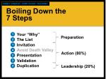 boiling down the 7 steps