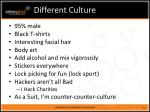 different culture