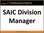 employment history9