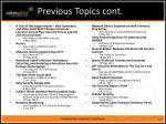 previous topics cont